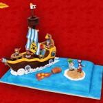 barco pirata tarta