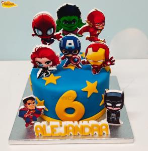 Super heroes pie