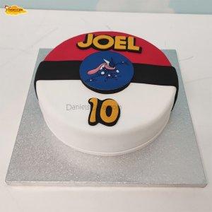 pokeball cake imagen