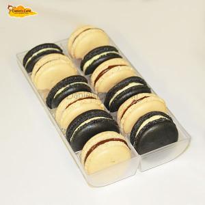 Macarons blanco y negro