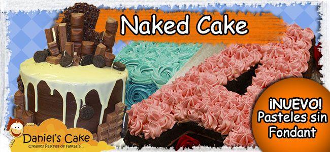 Naked Cake, pasteles sin fondant
