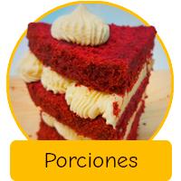 Porciones pastel