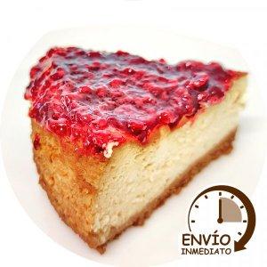Porcion Cheesecake con Frambuesa